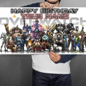 Overwatch Personalized/Customized Birthday Banner