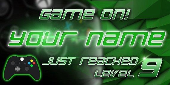 Gamer Banner, Birthday Banner, Video Game banner, Xbox, Poster, Custom Banner, Gamer Birthday Banner