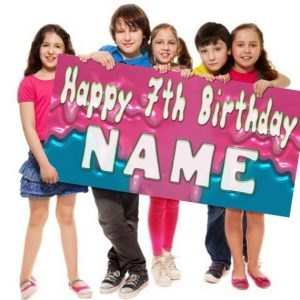 Slime lover Birthday Banner Personalized/Customized